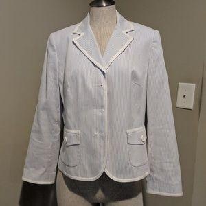 Ann Taylor pinstripe blazer